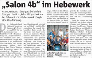 Ruhrnachrichten: Salon 4b im Hebewerk